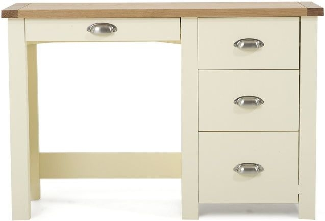Mark Harris Sandringham Oak and Cream Dressing Table - Single Pedestal