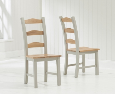 Mark Harris Sandringham Oak and Grey Dining Chair (Pair)