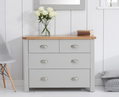Mark Harris Sandringham Oak and Grey 2+2 Drawer Chest