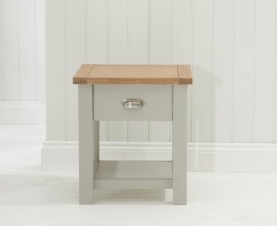 Mark Harris Sandringham Oak and Grey Lamp Table