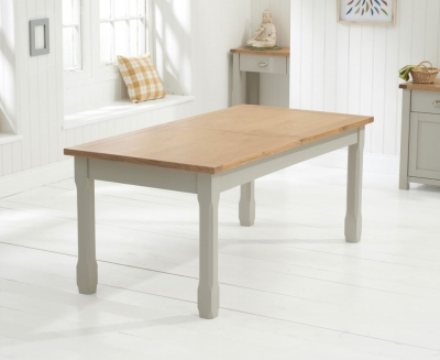 Mark Harris Sandringham Oak and Grey Large Extending Dining Table