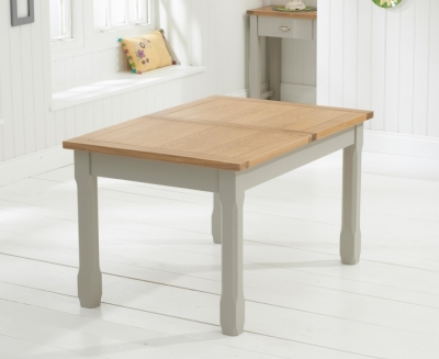 Mark Harris Sandringham Oak and Grey Extending Dining Table