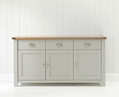 Mark Harris Sandringham Oak and Grey Sideboard