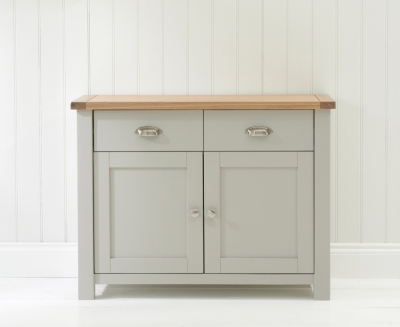 Mark Harris Sandringham Oak and Grey Narrow Sideboard