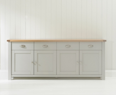 Mark Harris Sandringham Oak and Grey Wide Sideboard