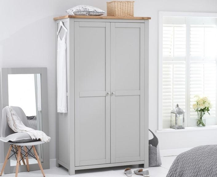 Mark Harris Sandringham Oak and Grey All Hanging Wardrobe