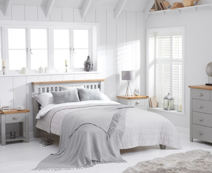 Mark Harris Sandringham Oak and Grey Bed Frame