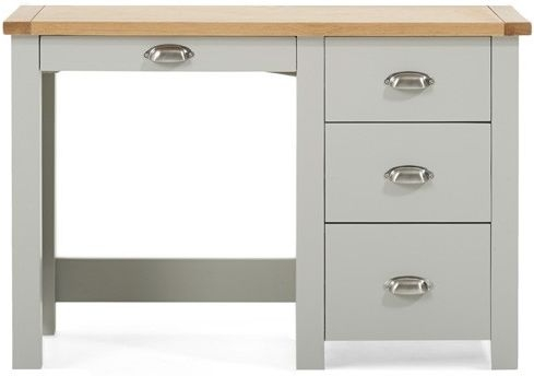 Mark Harris Sandringham Oak and Grey Dressing Table - Single Pedestal