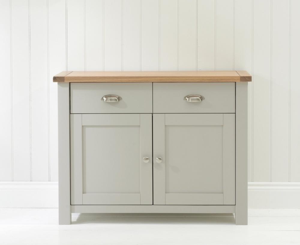 Mark Harris Sandringham Narrow Sideboard - Oak and Grey