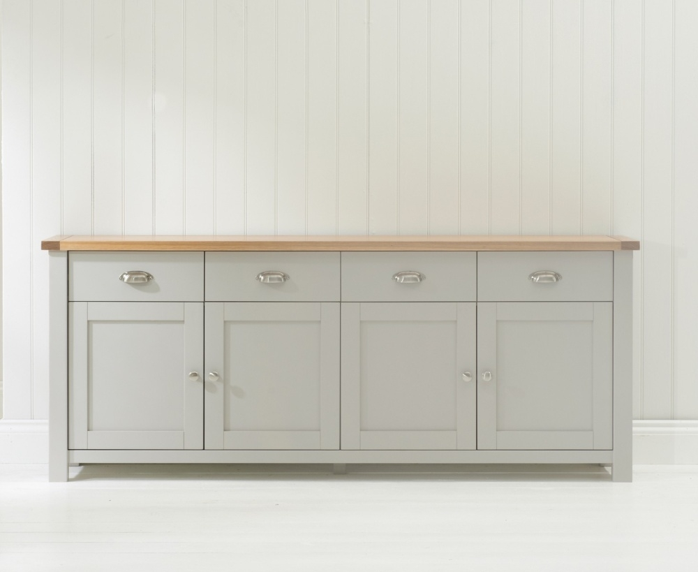 Mark Harris Sandringham Wide Sideboard - Oak and Grey
