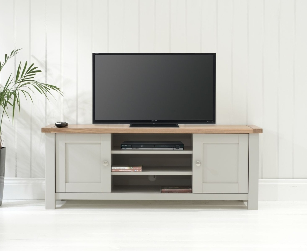 Mark Harris Sandringham Solid Oak TV Cabinet - Medium