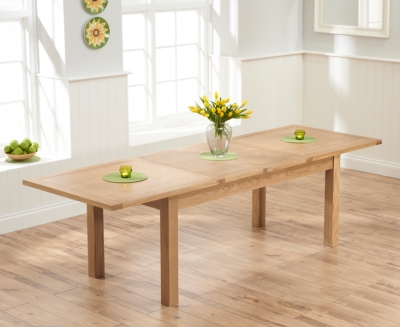 Mark Harris Sandringham Solid Oak 180cm Extending Dining Table