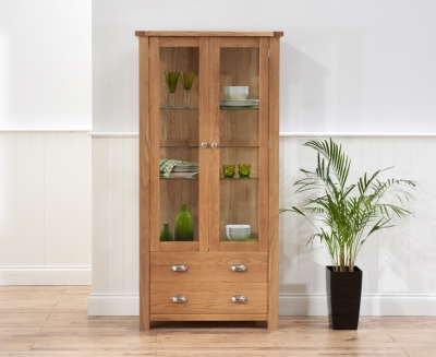Mark Harris Sandringham Solid Oak Display Unit