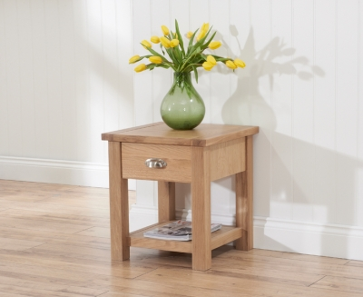 Mark Harris Sandringham Solid Oak Lamp Table