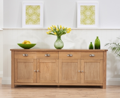Mark Harris Sandringham Solid Oak Sideboard with 4 Door and 4 Drawer