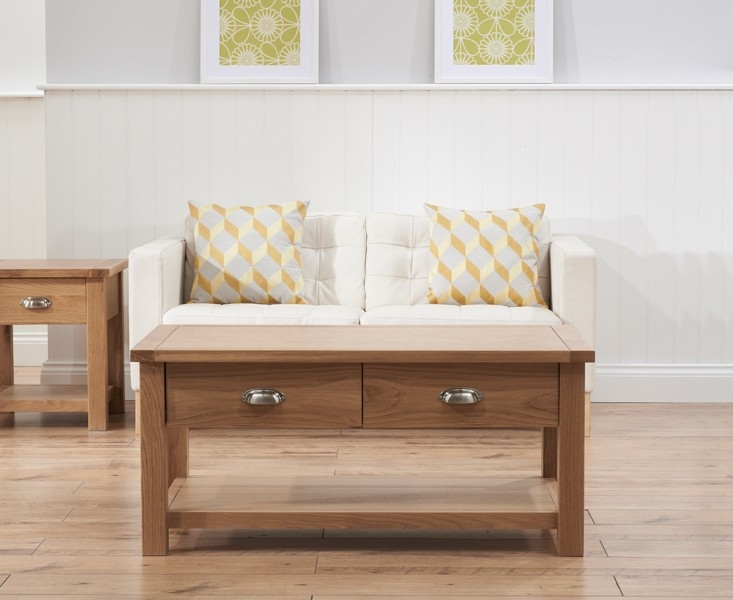 Mark Harris Sandringham Solid Oak Coffee Table - 2 Drawers