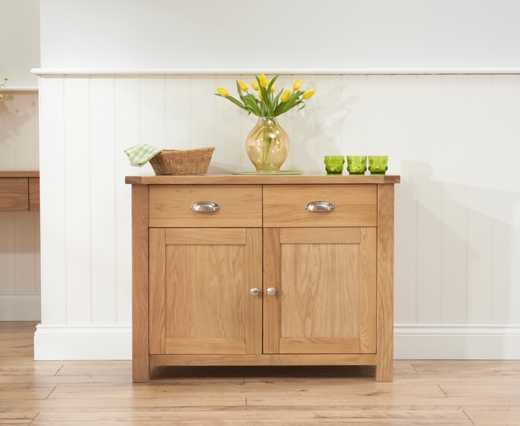 Mark Harris Sandringham Solid Oak Sideboard with 2 Door and 2 Drawer