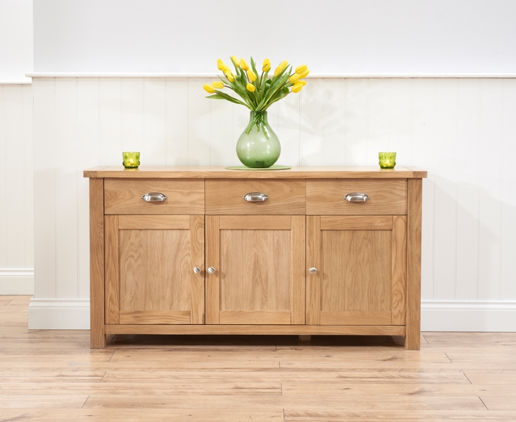 Mark Harris Sandringham Solid Oak Sideboard with 3 Door and 3 Drawer