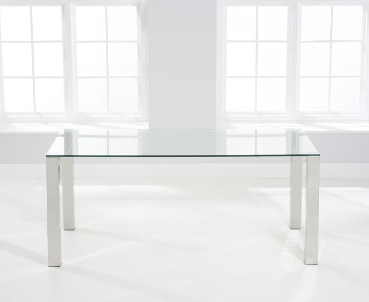Mark Harris Sara Glass Dining Table - 180cm Rectangular