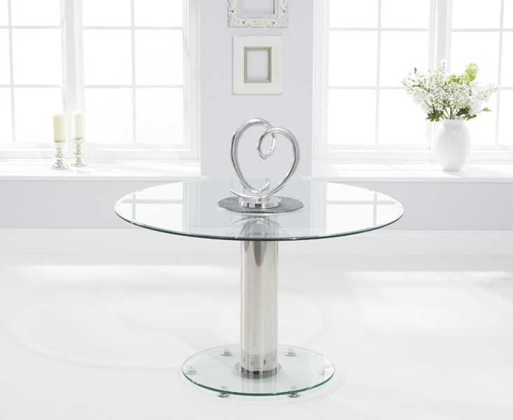 Mark Harris Serenity 120cm Round Glass Dining Table