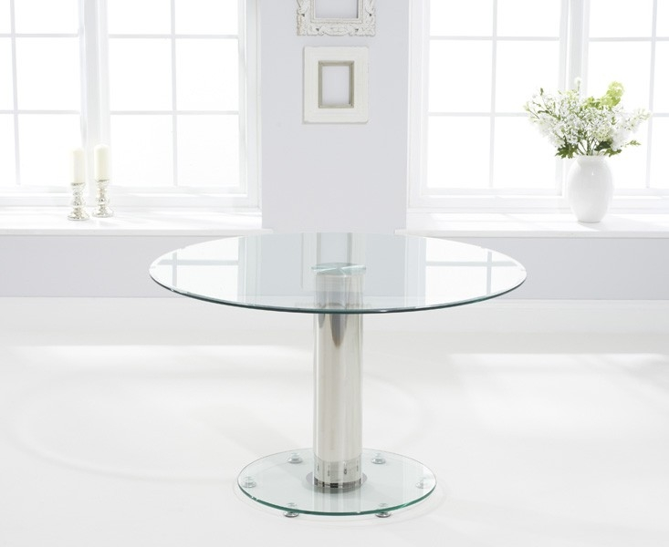 Mark Harris Serenity Glass Round Dining Table - 120cm