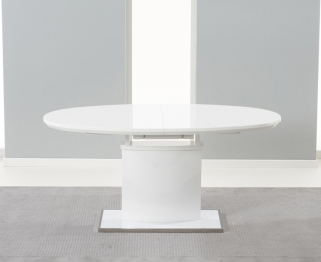 Mark Harris Seville White High Gloss 160cm 200cm Extending Dining Table