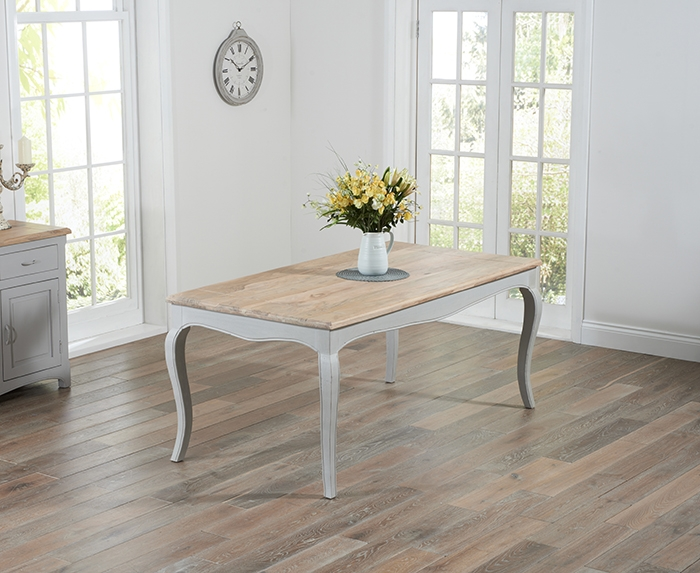 Mark Harris Sienna Oak and Grey 175cm Dining Table