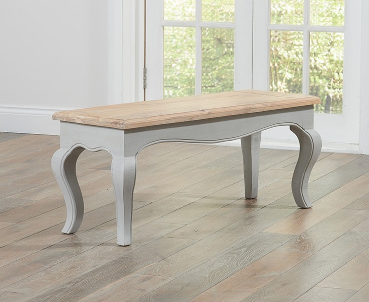 Mark Harris Sienna Oak and Grey Bench