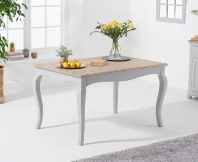 Mark Harris Sienna 130cm Grey Painted Dining Table