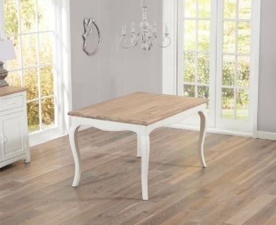 Mark Harris Sienna 130cm Ivory Painted Dining Table