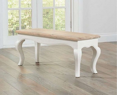 Mark Harris Sienna Ivory Painted Small Dining Bench