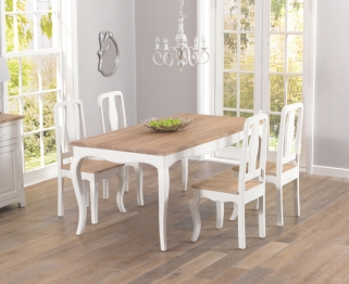 Mark Harris Sienna Shabby Chic 175cm Dining Set with 4 Dining Chairs