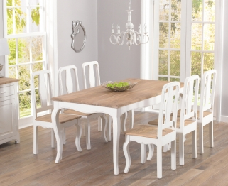 Mark Harris Sienna Shabby Chic 175cm Dining Set with 6 Dining Chairs