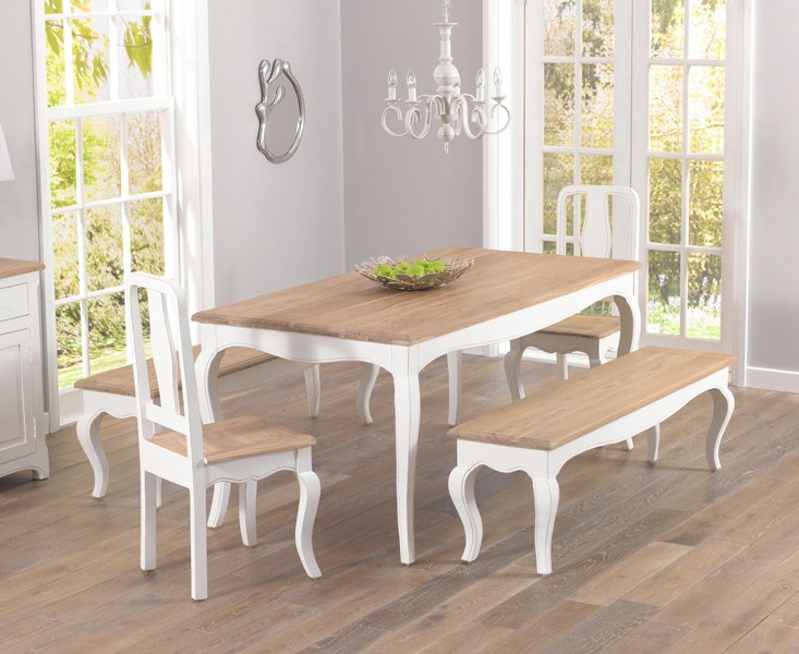 Buy Mark Harris Sienna Shabby Chic 175cm Dining Set With 2