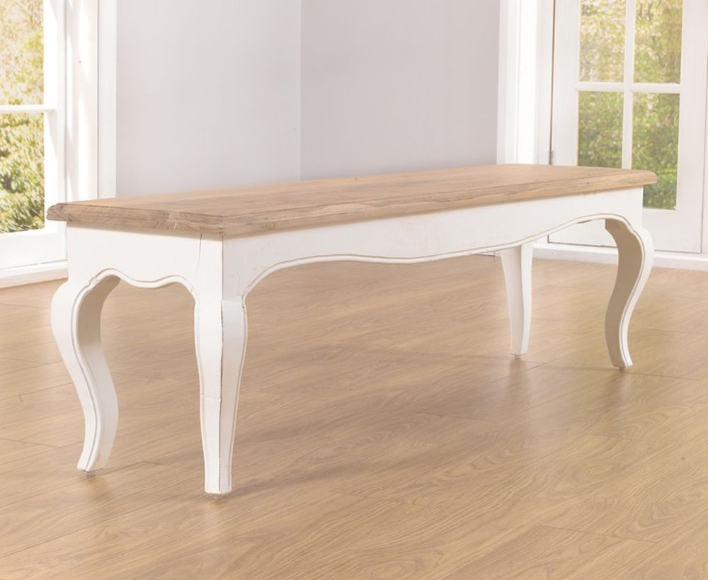 Mark Harris Sienna Ivory Painted Dining Bench
