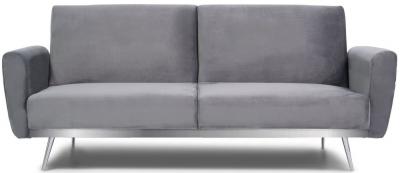 Mark Harris Elsa Grey Velvet Sofa Bed