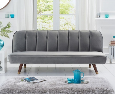 Mark Harris Jodie Grey Velvet Sofa Bed