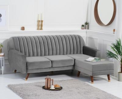 Mark Harris Leslie Grey Velvet Sofa Bed