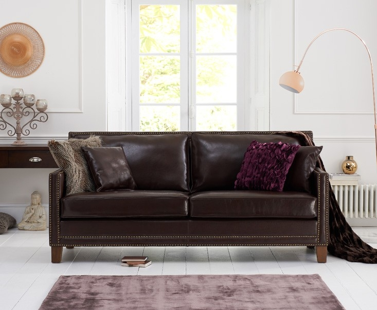 Mark Harris Arundel 3 Seater Brown Leather Sofa