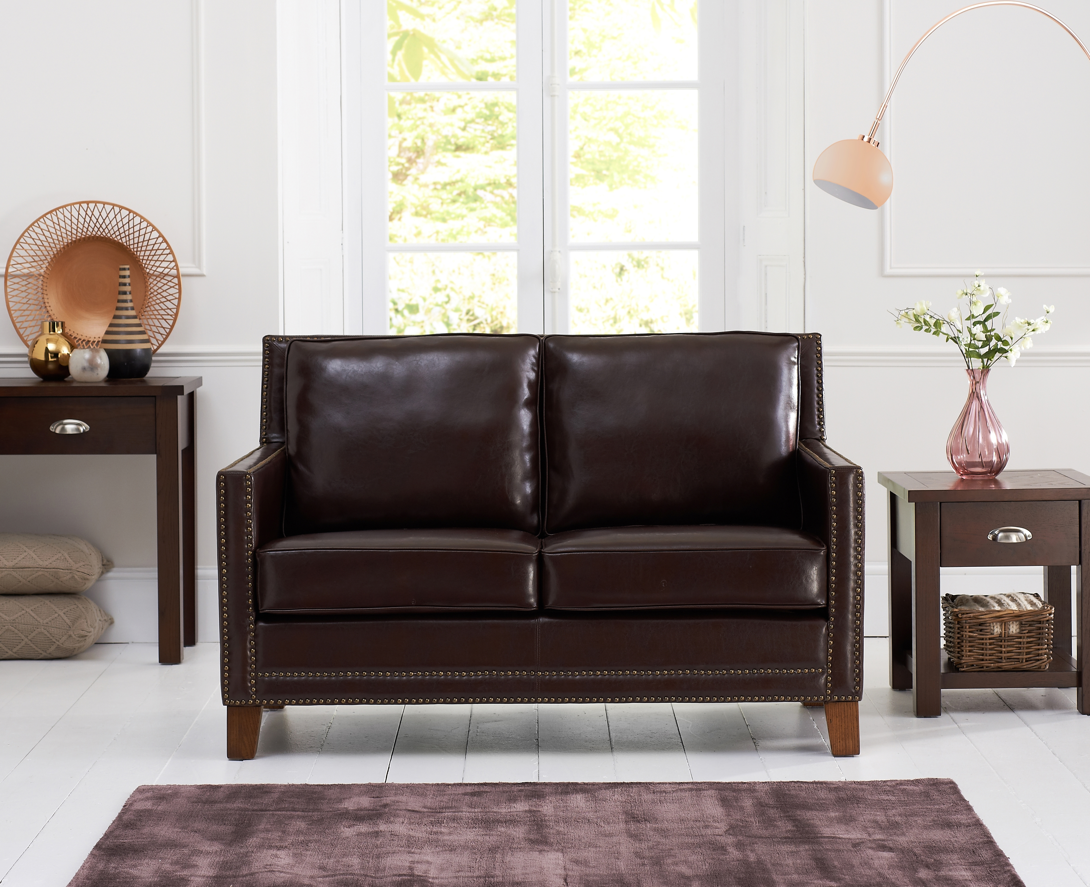 Mark Harris Arundel Brown Leather 2 Seater Sofa