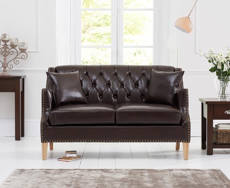 Mark Harris Carmen 2 Seater Brown Leather Sofa