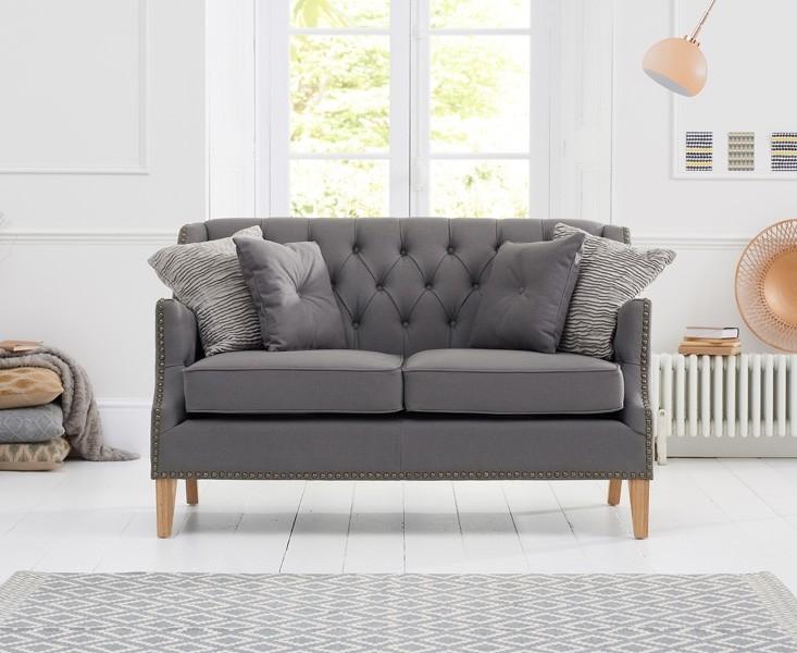 Mark Harris Carmen 2 Seater Grey Fabric Sofa