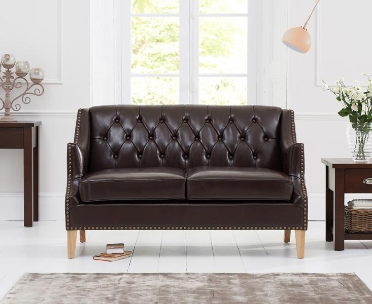 Mark Harris Carmen Brown Leather 2 Seater Sofa