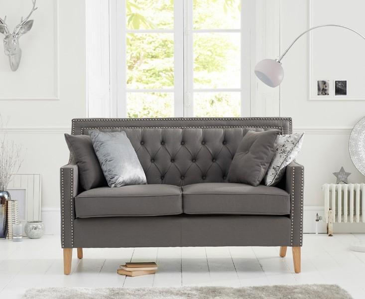 Mark Harris Casa Bella 2 Seater Grey Fabric Sofa