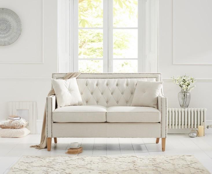 Mark Harris Casa Bella 2 Seater Ivory Fabric Sofa