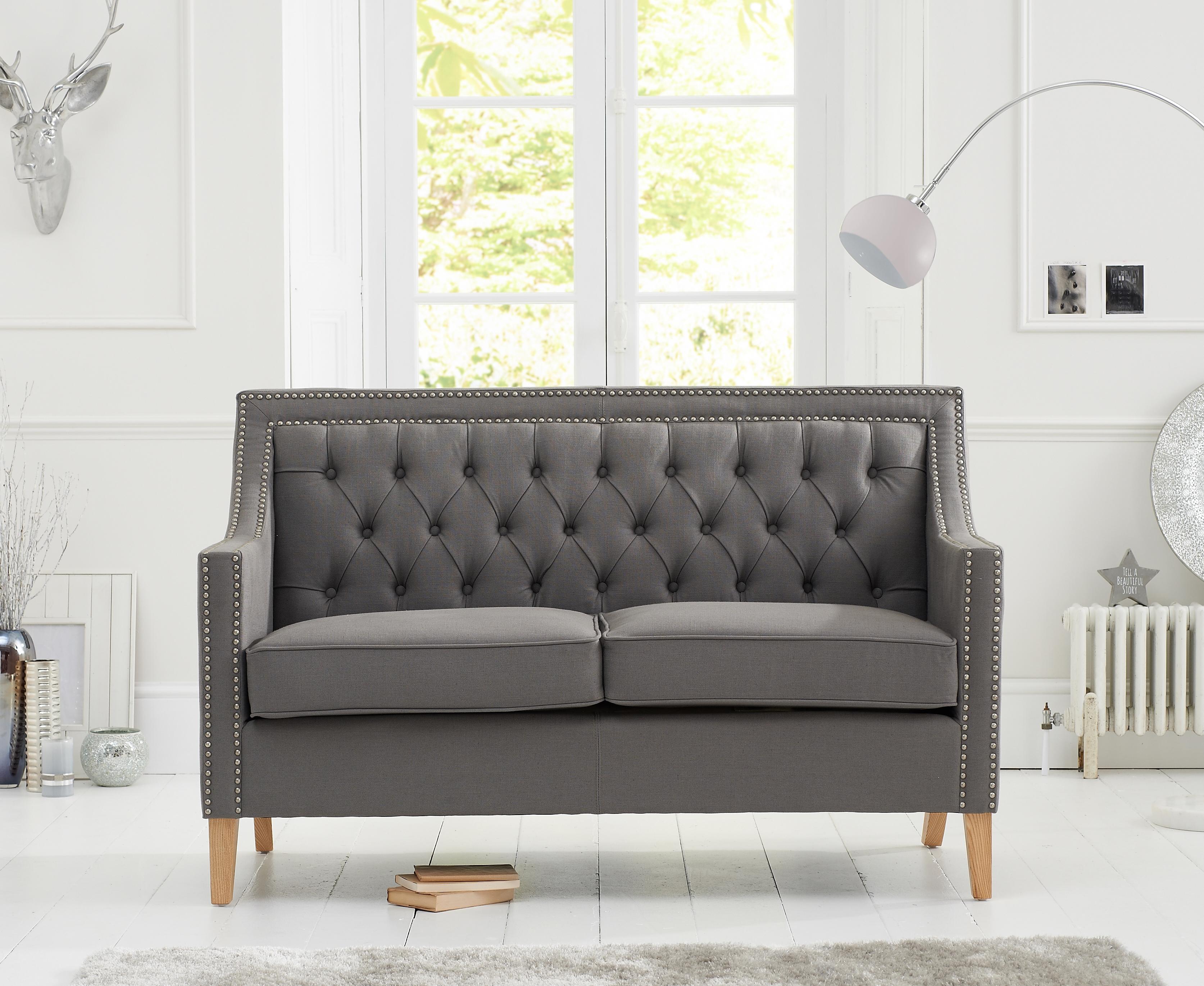 Mark Harris Casa Bella Grey Fabric 2 Seater Sofa