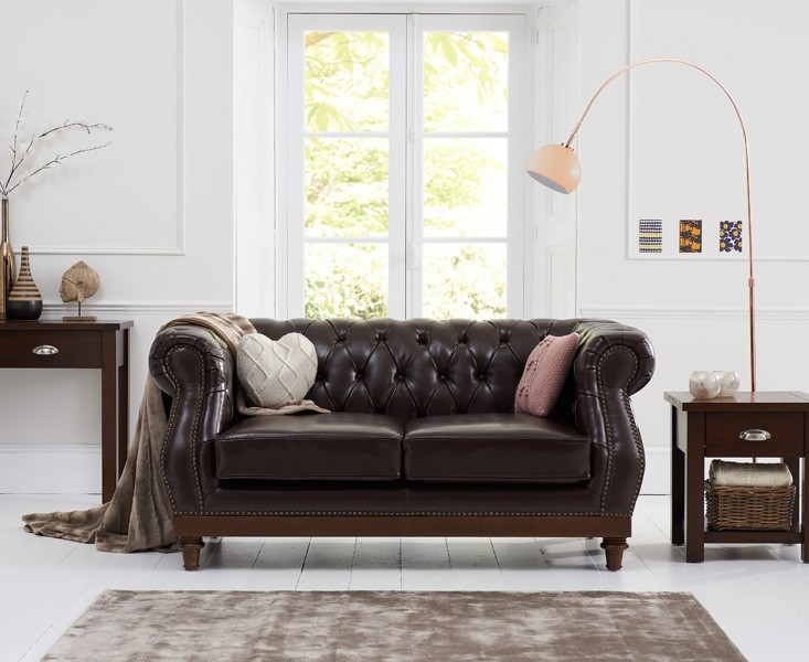 Mark Harris Highgrove 2 Seater Brown Leather Sofa