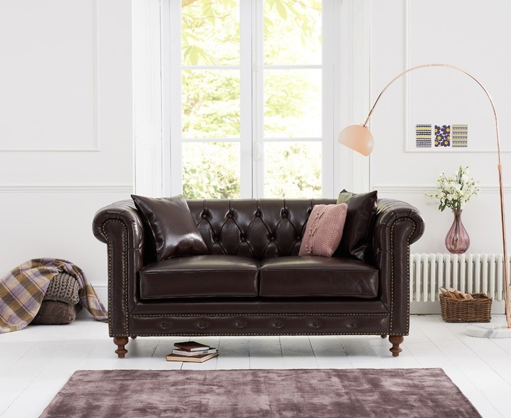 Mark Harris Montrose 2 Seater Brown Leather Sofa