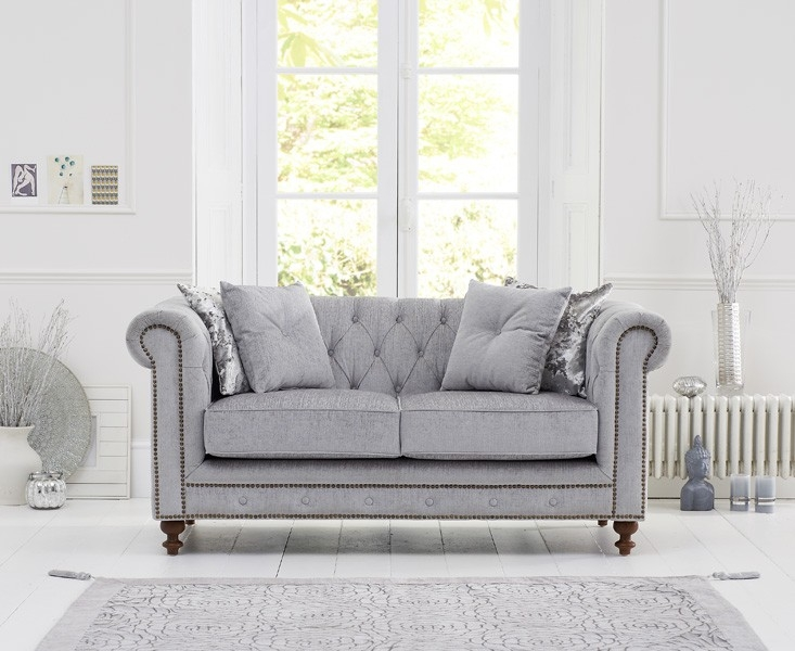 Mark Harris Montrose 2 Seater Grey Fabric Sofa