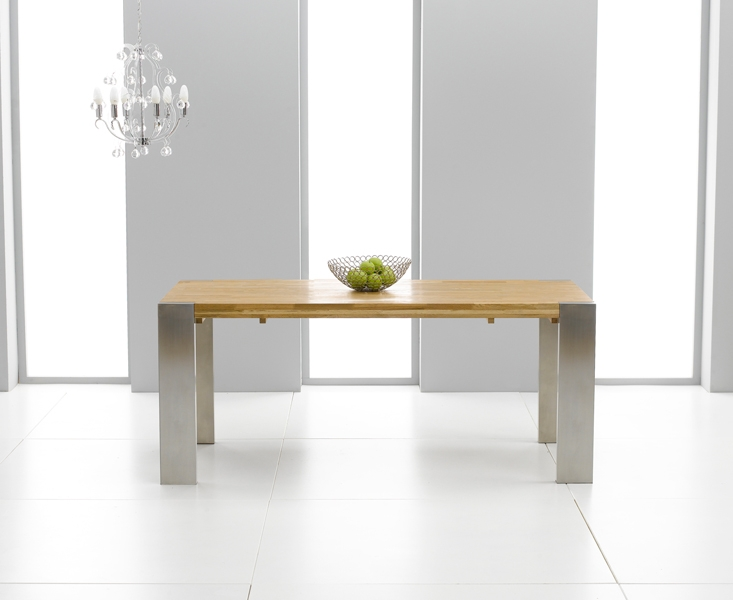 Mark Harris Soho Solid Oak and Metal 180cm Extending Dining Table